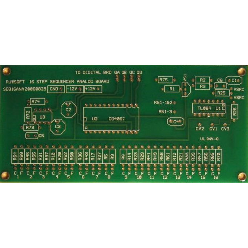 MFOS 16 Step Analog Sequencer - Analog PCB